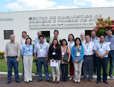Fundecitrus treina profissionais da América do Sul para o controle de greening