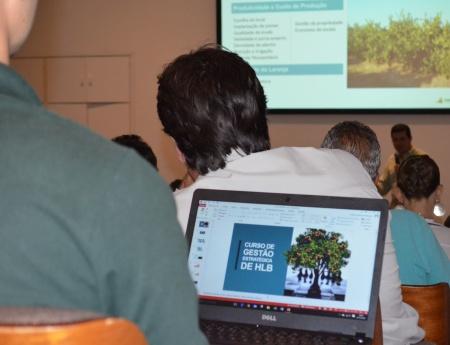Fundecitrus realiza curso de HLB em Olímpia