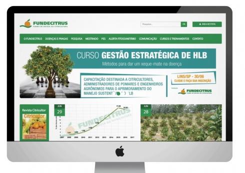 Site do Fundecitrus ganha novos serviços e está mais informativo