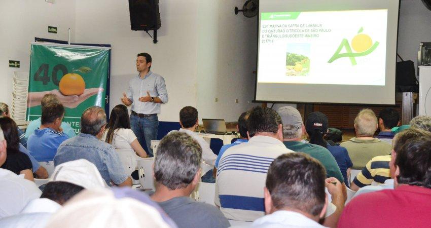 Cafelândia recebe encontro de manejo regional do greening promovido pelo Fundecitrus