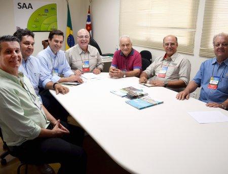 Presidente do Fundecitrus se reúne com secretário da Agricultura na Agrishow