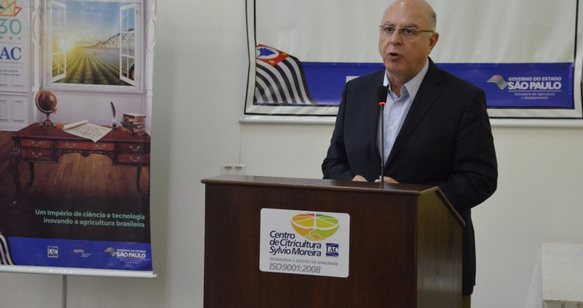 Secretário de Agricultura e Abastecimento de São Paulo anuncia grupo de trabalho de combate ao greening na 39ª Semana da Citricultura