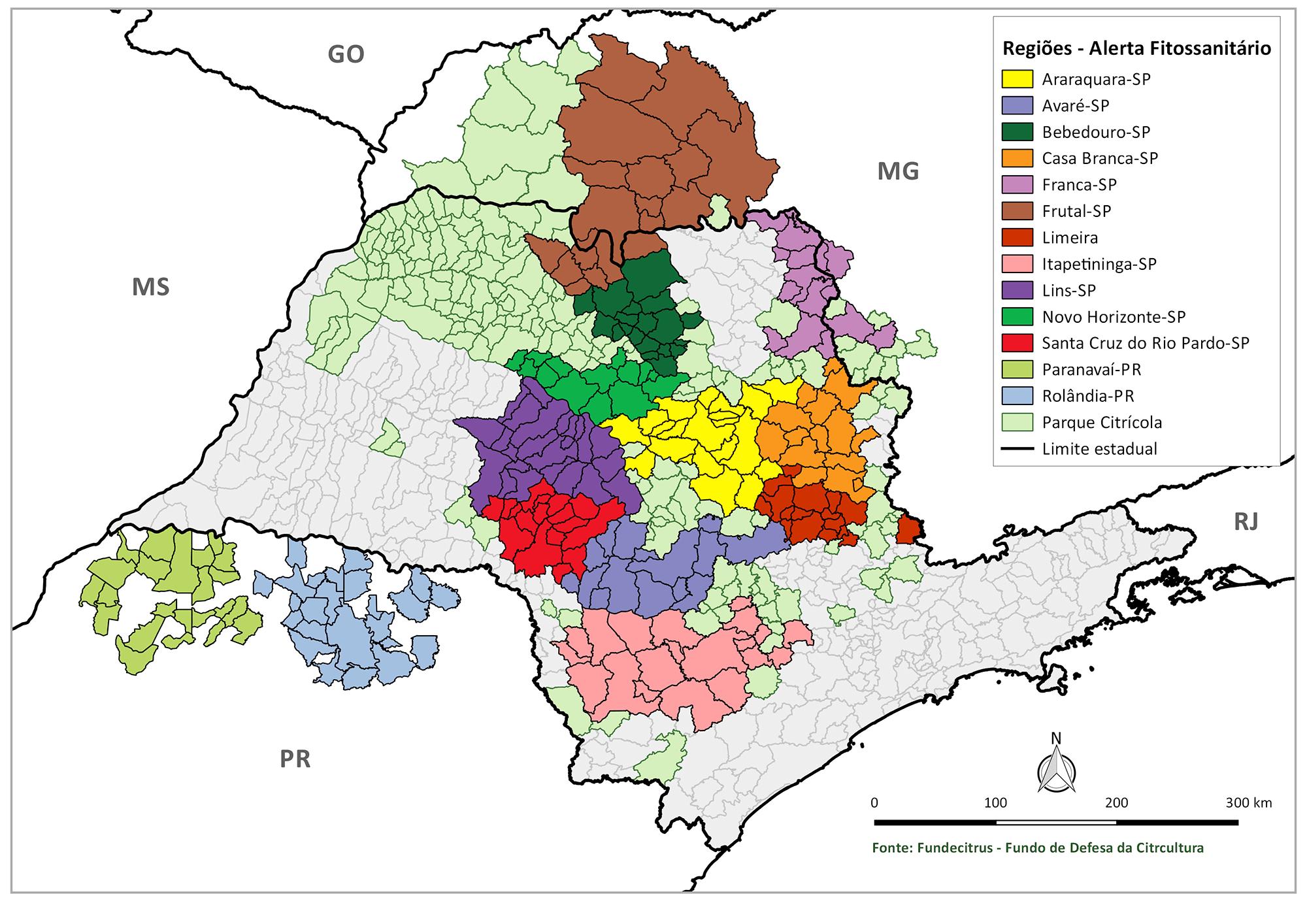 Mapa Sistema de Alerta Fitossanitário